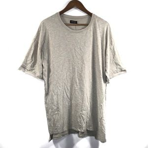 Zara Man Size Medium Taupe Simple T-shirt